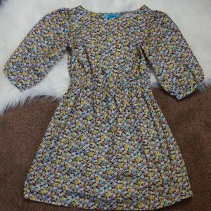 Buttons Womens Fit & Flare Dress Multicolor Floral